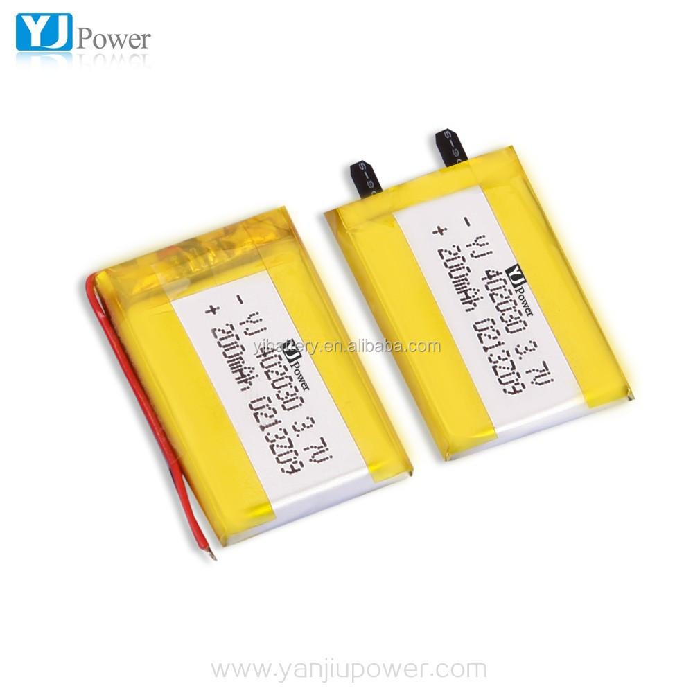 3.7v 200mah Lithium Polymer Battery 1s / 3.7v 5v Li-ion Polymer ...