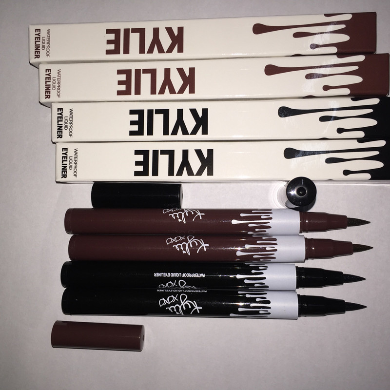 Eye makeup kylie jenner magic waterproof black and brown eyeliner private label