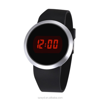 High Quality Silicone Rubber Band Touch Screen LED Digital Watches With Red Light Watch Manufacturer Supplier Exporter
