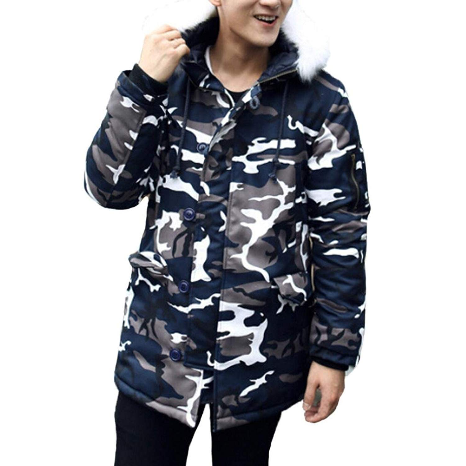 d7ea3d6e9 Get Quotations · Warm Coat,Men Fashion Camouflage Winter Coat Thickening Jacket  Winter By Orangeskycn