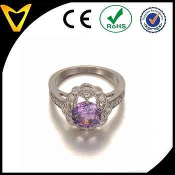 Hot Sale Saudi Arabia Silver Wedding Ring PriceCheap Fake Diamond