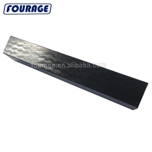 Customized Machine Braided 3k Braided Carbon Fiber Square Tube Black with Twill Weave