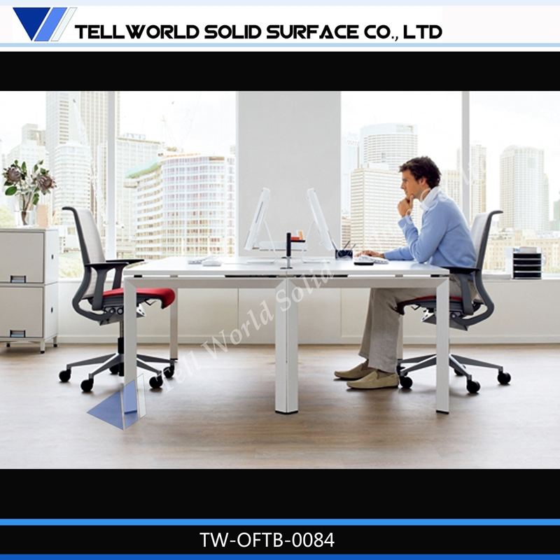 10 years usuage at least! Artifical stone modern office 2 person workstation furniture!