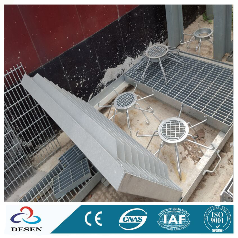 Gi Grating Stainless Steel Slim Line V Profile Grating Rain Gutter Covers