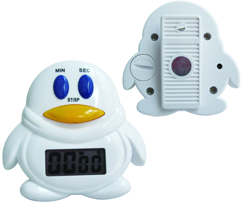 Lovely magnetic penguintimer for Mini countdown timer with ultra loud alarm
