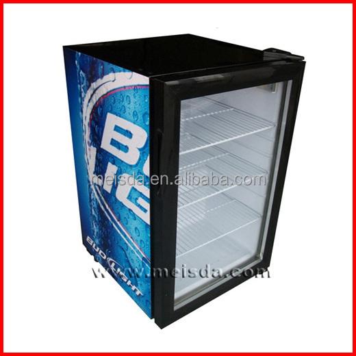 68l Drink Fridge Beverage Chiller Mini Display Fridge