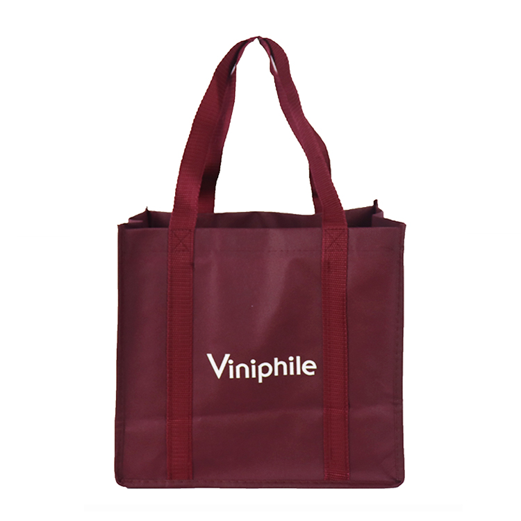 6 bottle wine promotional pp non woven folding shopping carry bag