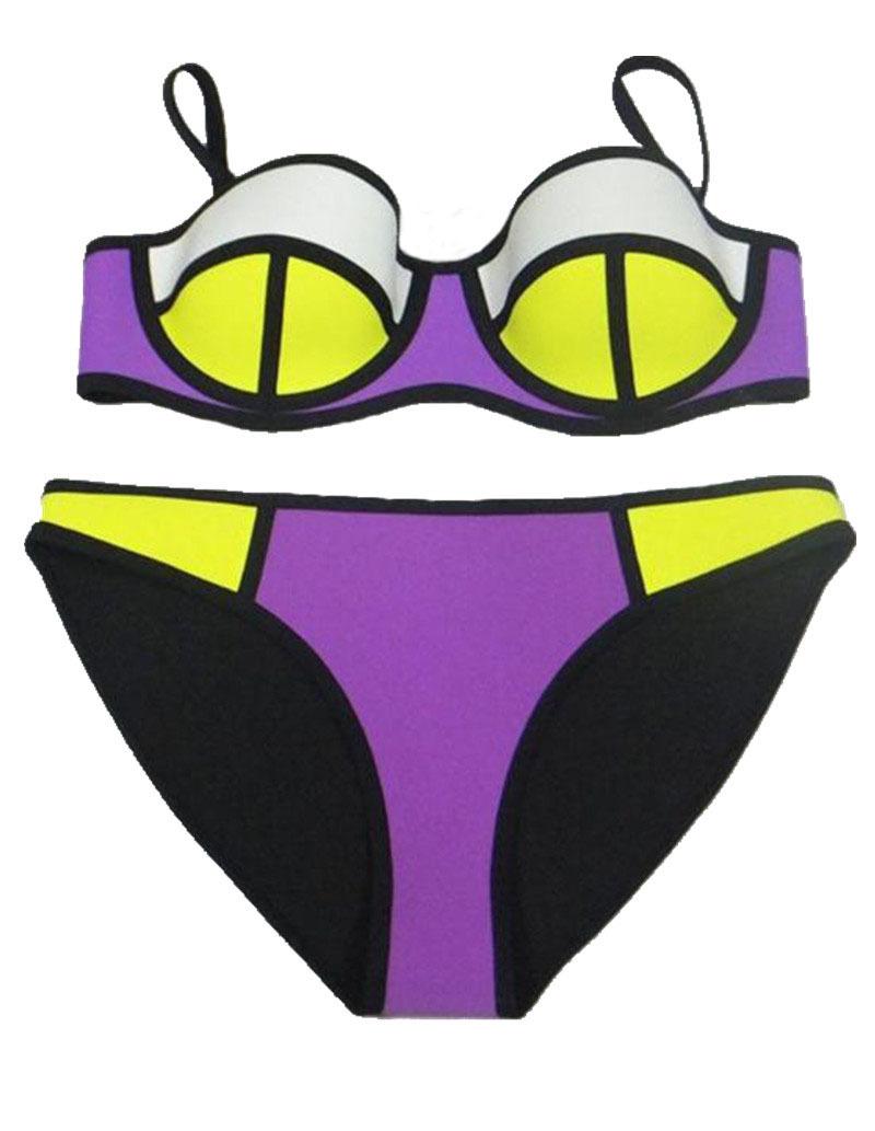 5add476fb5a2 2015 New high quality neoprene bikini Triangl Swimwear Sexy Push Up  Neoprene Bikini Set Swimsuit Biquini Maillot De Bain