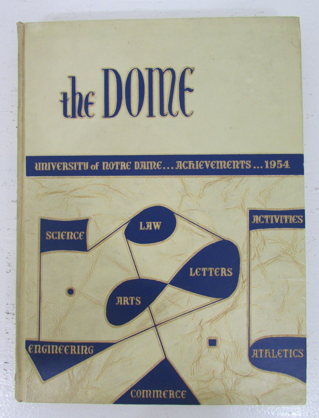 """1954 Notre Dame University """"The Dome"""" Yearbook Vol. 45 FB Undefeated 125285"""