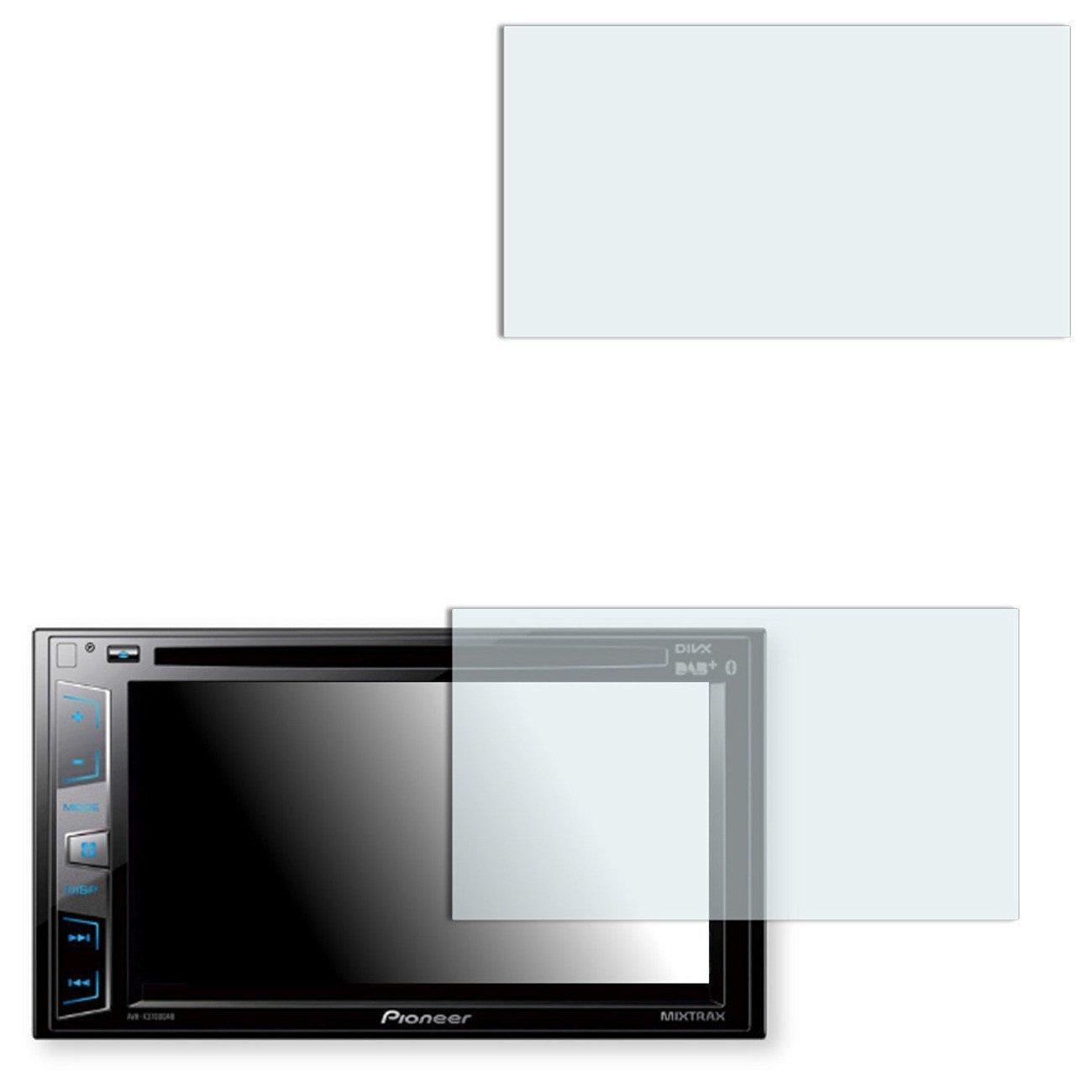 2x Golebo Anti-Glare screen protector for Pioneer AVH-X3700DAB (Anti-Reflex, Air pocket free application, Easy to remove)