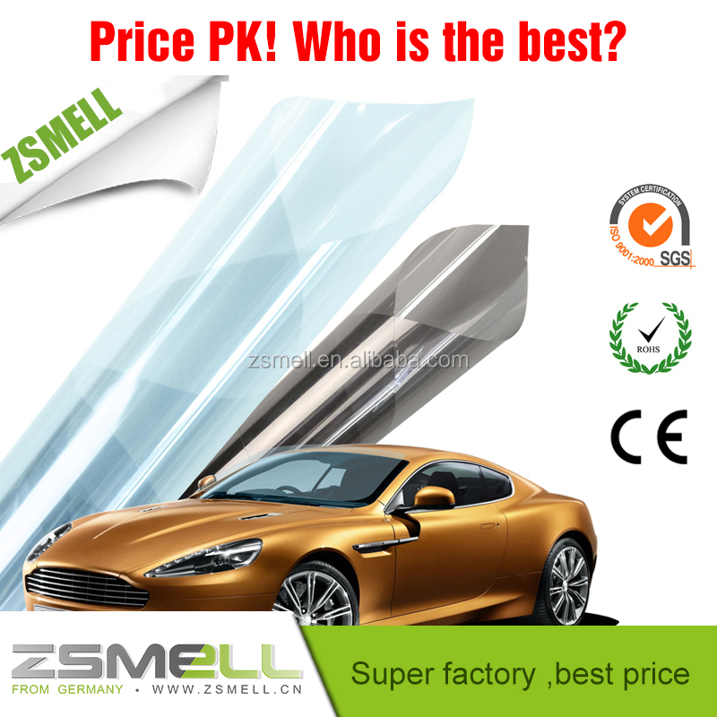 Scratch resistant mirror finish color changing window tinting film