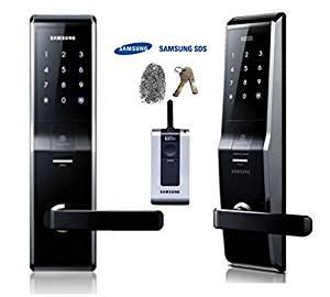 Samsung SHS-H700, New Version of Samsung SHS-5230 Biometrics Fingerprint Digital Door Lock security EZON+ 2pcs of Emergency Keys +Remote control
