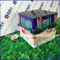 High clear acrylic cube money raising box with sign holder, mini plastic acrylic charity donation box