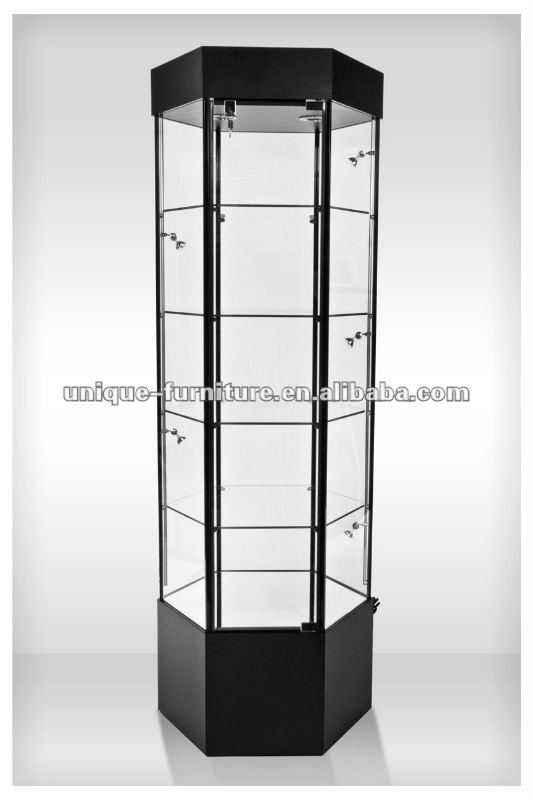 Hexagon Glass Display Cabinet, Hexagon Glass Display Cabinet Suppliers And  Manufacturers At Alibaba.com