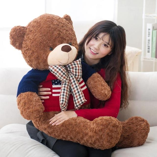 g ant en peluche ours en peluche norme ours en peluche animal jouet avec kinitting tissu 100 cm. Black Bedroom Furniture Sets. Home Design Ideas