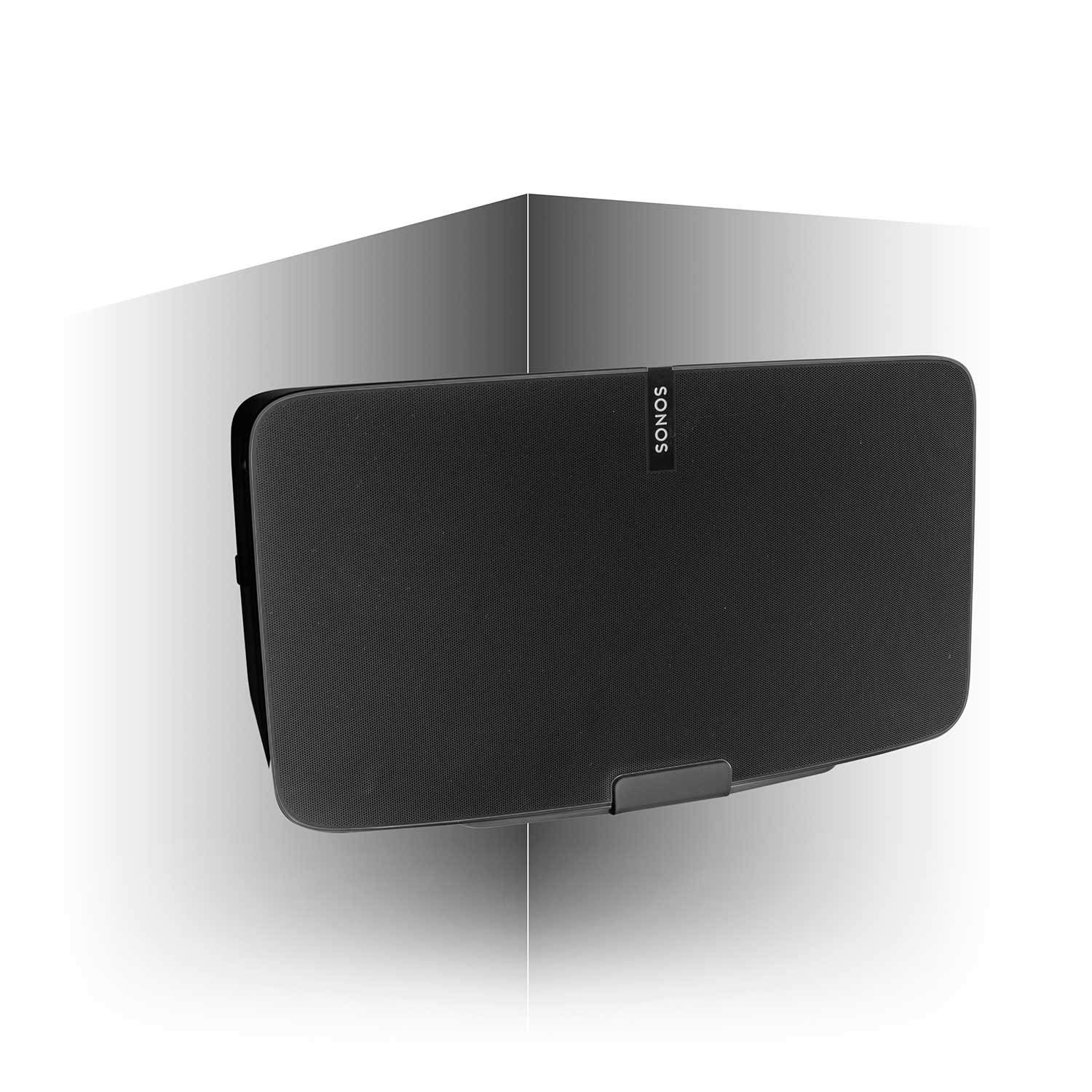 Vebos corner wall mount Sonos Play 5 gen 2 black and optimal sound experience in every room - Compatible with SONOS PLAY:5