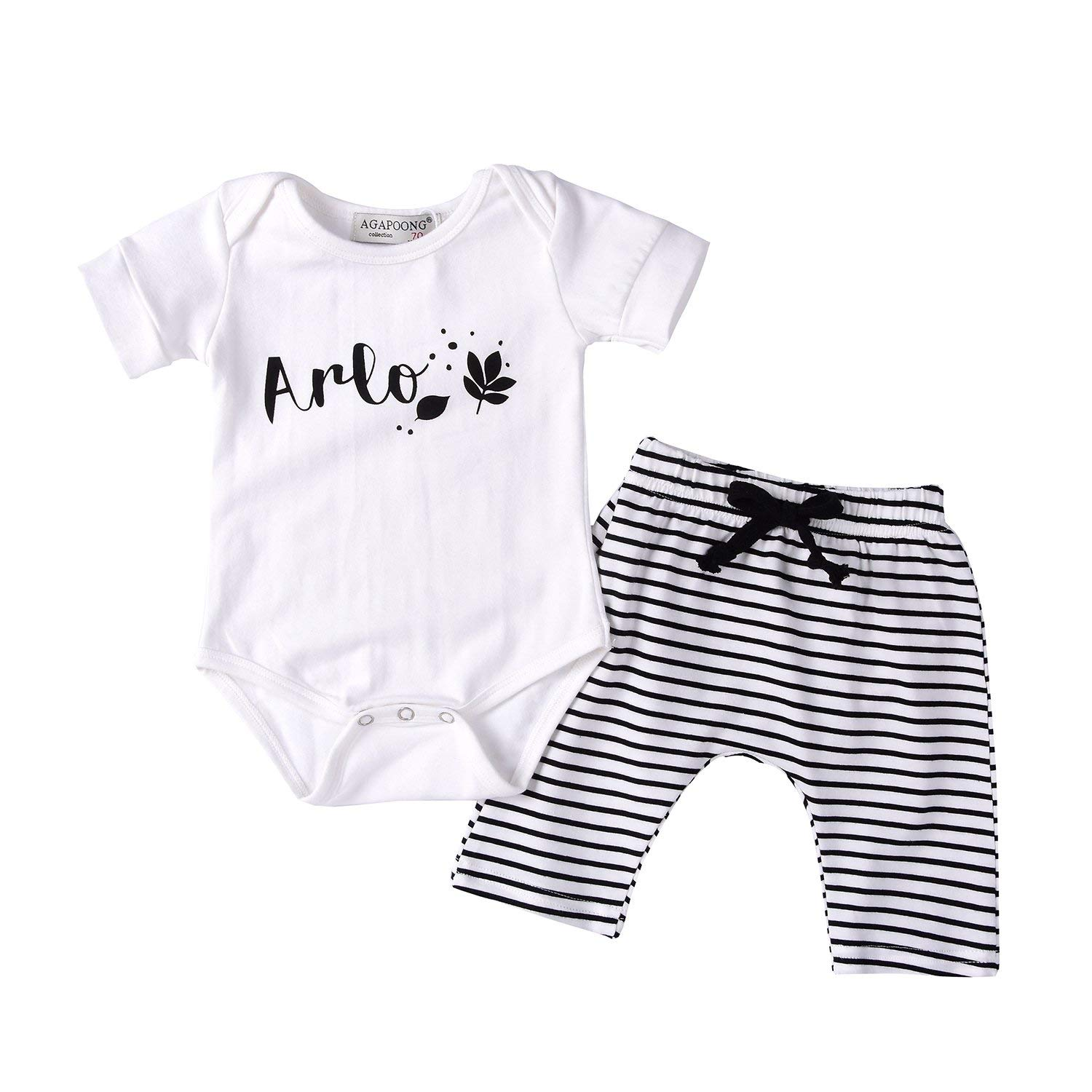 Smakke Fashion Cute Infant Newborn Baby Girl Clothes Hooded Sweatshirt Striped Pants 2Pcs Outfit Cotton Baby Tracksuit Set