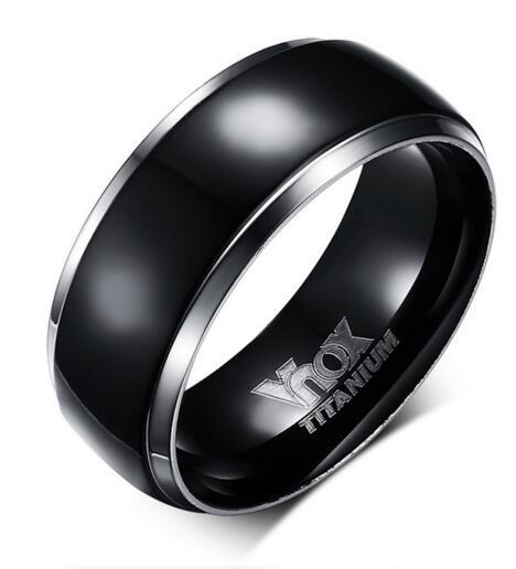 Fashion jewelry wholesale black titanium men's ring фото