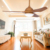 "Modern indoor wood color use energy saving 52"" air cooling ceiling fan with high rpm"