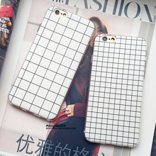 2015 New Fashion Phone Case for Apple iPhone 5 5s 6Plus 6 Grid Design Luxury Soft Silicone Protective Shell Cover Phone Bags