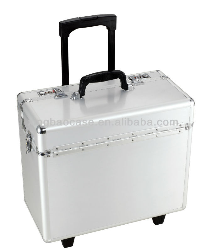 Varnish aluminum hard case luggage online,cheap luggage cases with Jacquard and Bag inner,jewelry trolley case