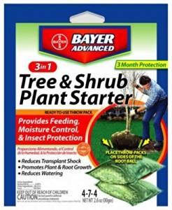 Bayer Advanced 3-In-1 Tree/Shrub Plant Starter, 4-7-4 Fertilizer 2 Packs