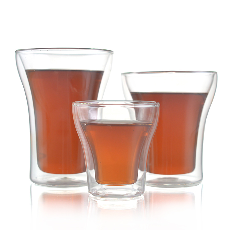 FDA Lead Free Double Wall Glass Tumbler Highball Glass Cup for Beer/Cocktail/Lemonade/Iced Tea
