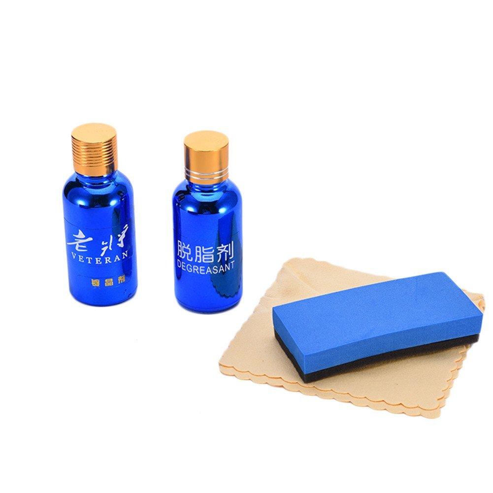 2pcs Car Liquid Paint Sealant Silicon Dioxide Glass Polish Shine Car Paint Coating Plating Protection Set