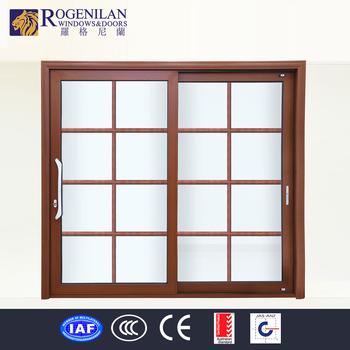 Rogenilan Large Aluminum Profiles Powder Coated Wood Frame Sliding