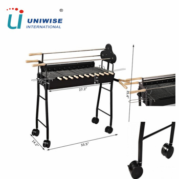 Wholesale charcoal cyprus rotisserie bbq grill with skewer / meat brazil grill