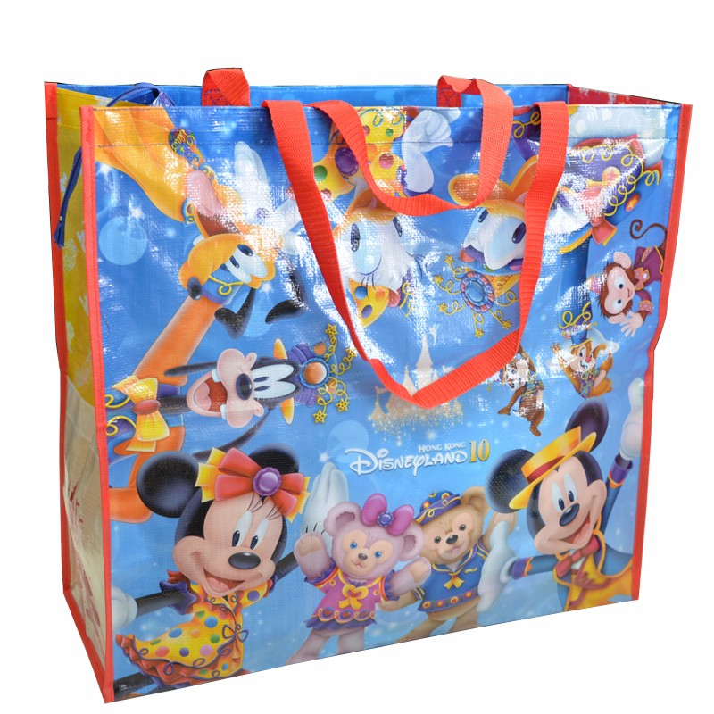 fashionable LOGO printing portable shopping bag plastic