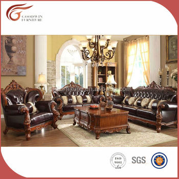 Royal Germany Living Room Sofa/leather Sofas/solid Wood Sofa Set A89