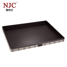 Endurable Modern design leather serving tray in brown for hotel supply