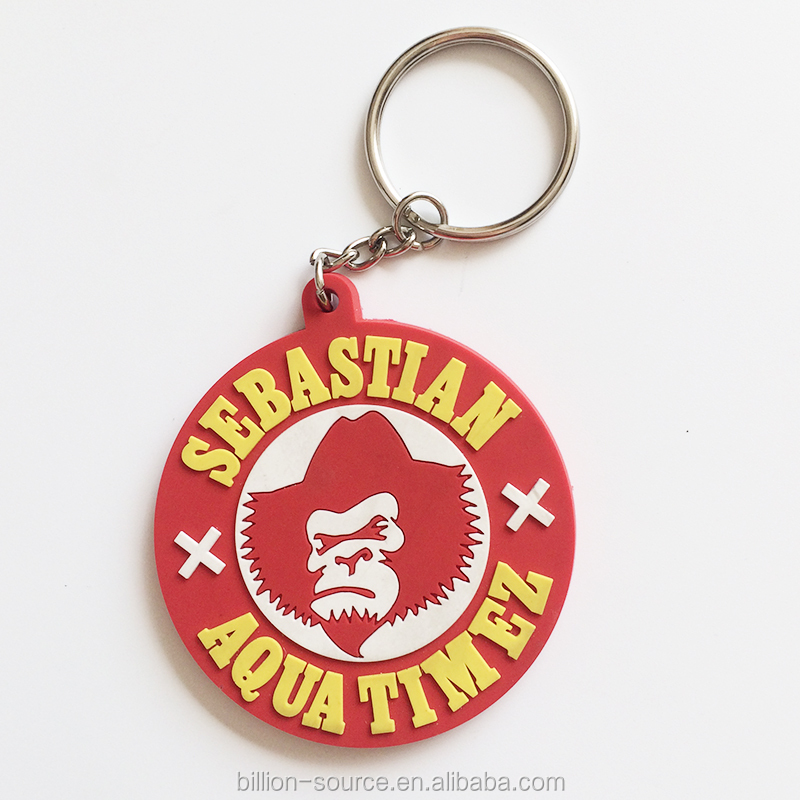 Promotional gifts with logo rubber keychain/ cusom key tag/ Customized pvc keychain with logo