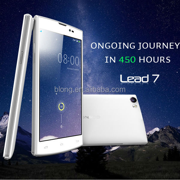 Long standby 5inch smart android mobile phone Leagoo Lead 7 with 4500 mAh charging battery