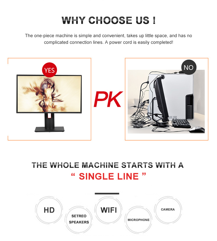 2.5--3.1 GHZ for Game Office and Home use i5 3210M all in one PC desktop computer wih Adjustable Stand case