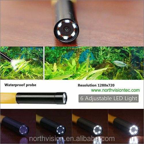 8mm hd 720 p sans fil wifi usb caméra d'inspection d'endoscope endoscopique jaune 2 m serpent caméra d'inspection de l'endoscope pour smartphone