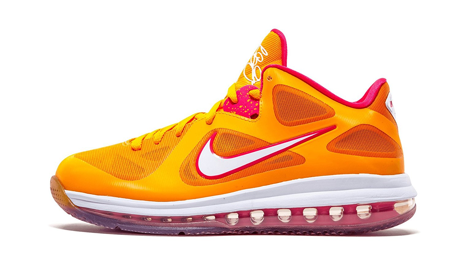 detailed look 163f1 063ee Get Quotations · Nike LEBRON 9 Low Miami Floridians Vivid Orange Cherry  Easter Night 510811-800