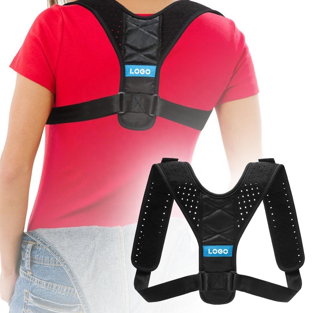Comfortable Brace Back Straightener Posture Brace for Slouching Back Posture Corrector Shoulder Support, Black/blue/pink/green;custom colors