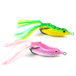 50mm/11g VMC Hooks Resin Skirts Artifical fishing frog lure
