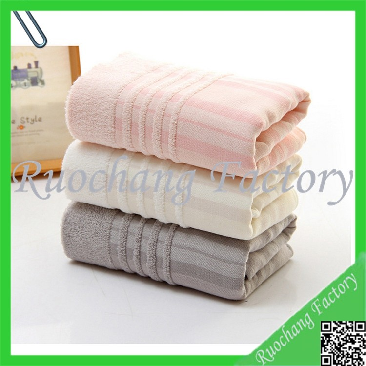 Wholesale Colored 100% Cotton Fabric Plain Dyed Soft Size Face Towel