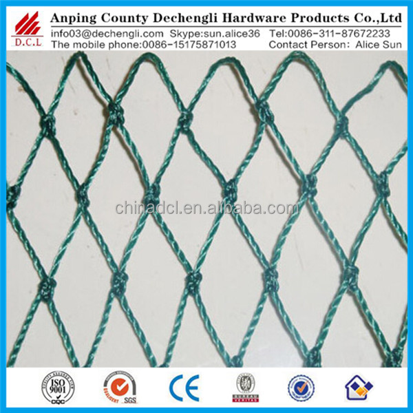 HDPE plastic bird net / bird trapping net /plastic tree protection mesh