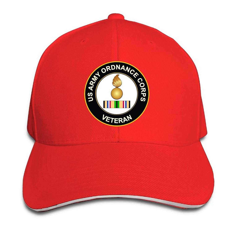 6dc513eddef Get Quotations · GENZHESI Army Ordnance Gulf War Veteran Adjustable  Baseball Hat Dad Hats Trucker Hat Sandwich Visor Cap