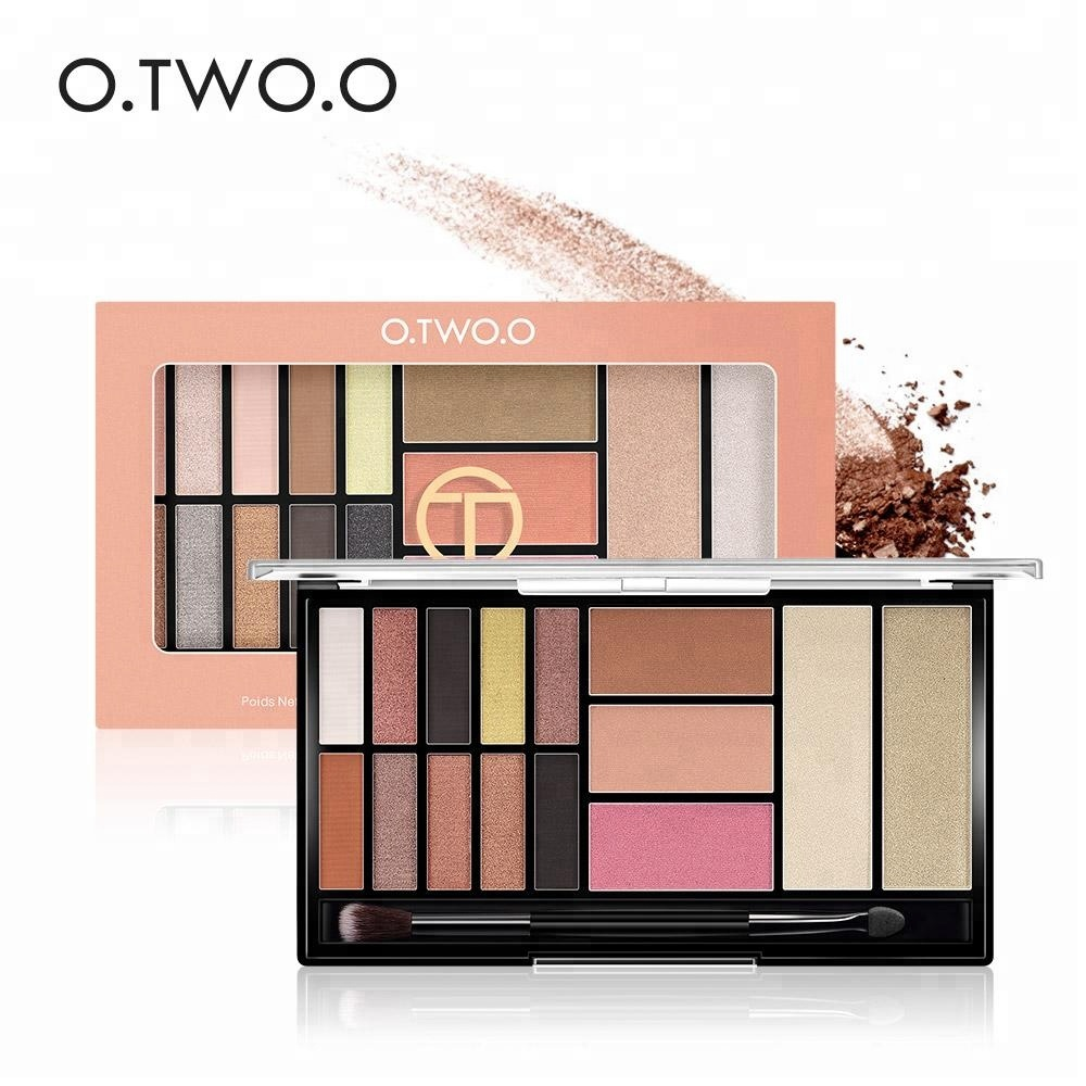 O.TWO.O Hot Selling Super Quality All - Day Wear Up Eyeshadow Highlighter Makeup Palette, 3 set