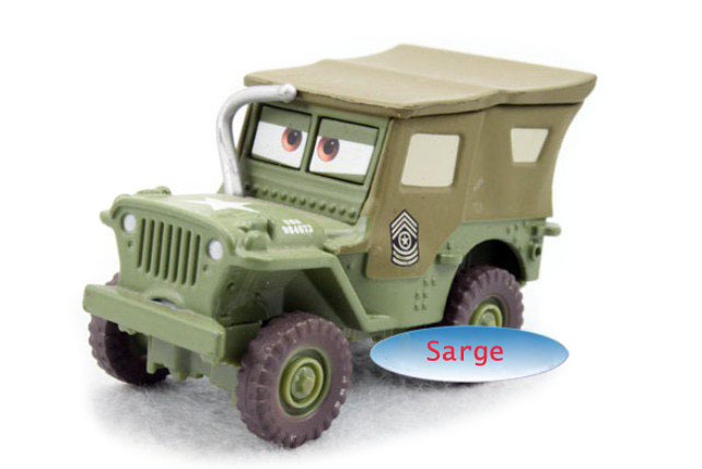 Cars Pixar Sarge Metal Diecast Toy Car 1:55 Loose Diecast Models Vehicles Kids Car Toys For Children