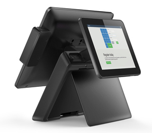 15'' windows aluminum alloy dual screen touch screen pos system machines for restaurants and supermarkets