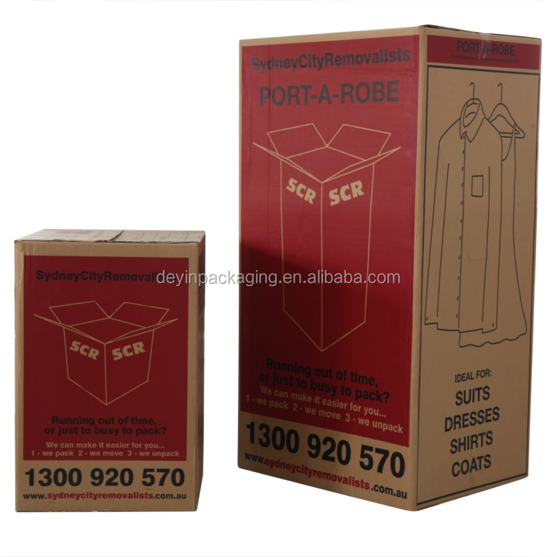 Triple Wall Customized Corrugated paper Wardrobe Carton Box With High Quality