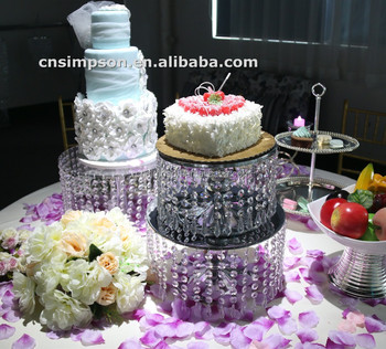Metal Crystal 2 Tiers Wedding Cake Stand Buy Cake Stand Wedding