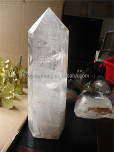 Wholesale big nature clear crystal wand delicate rock quartz prism crystal point crystal prism ornaments