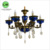 High quality iron hanging candle light hotel pendant lighting